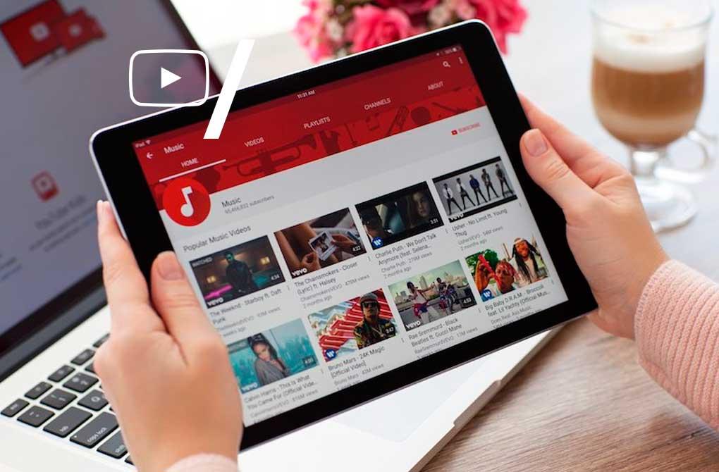 mídia no youtube
