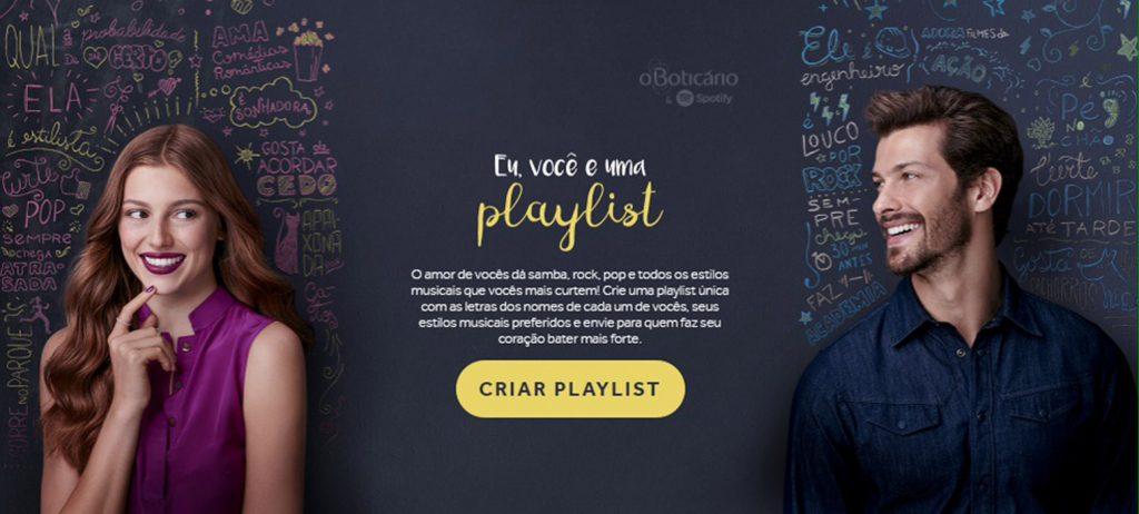 Anúncio em playlist no Spotify